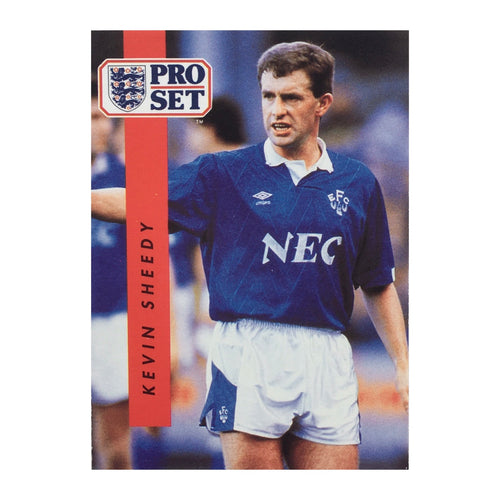 1990/91 Kevin Sheedy Everton Pro Set Trading Card