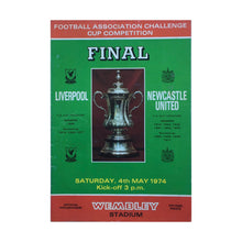 1974 Liverpool v Newcastle United FA Cup Final Match Programme