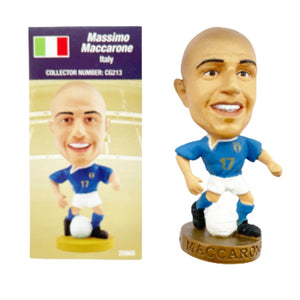 2004 Massimo Maccarone Italy Corinthian Prostar Football Figure & Collector Card