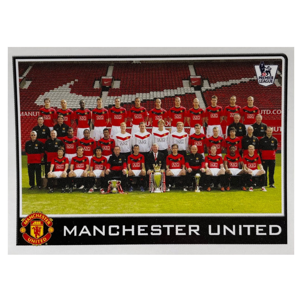 2009/10 Manchester United Squad Photo Topps Football Sticker