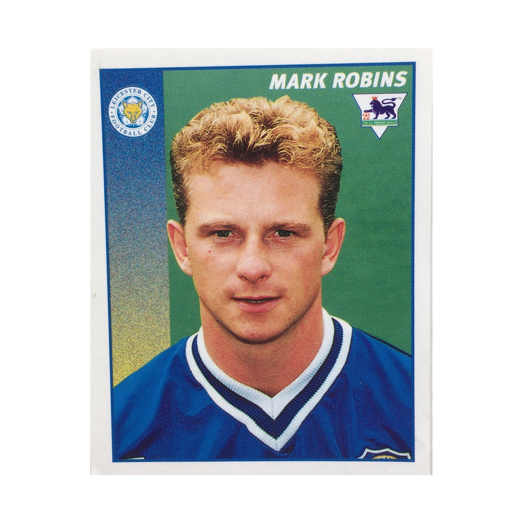 1996/97 Mark Robins Leicester City Merlin Football Sticker