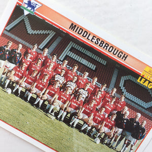 1995/96 Middlesbrough Squad Photo Merlin Football Sticker