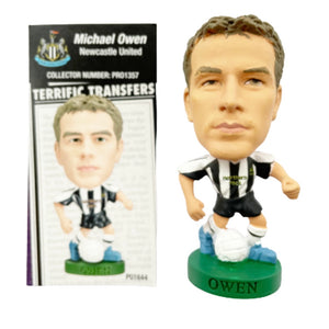 2005/06 Michael Owen Newcastle United Corinthian Prostar Football Figure & Collector Card
