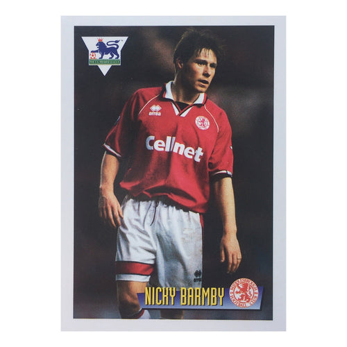 1996 Nicky Barmby Middlesbrough Merlin Trading Card