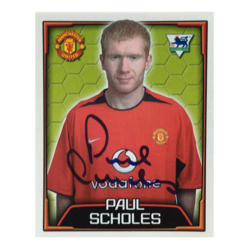 2003/04 Paul Scholes Manchester United Merlin Football Sticker