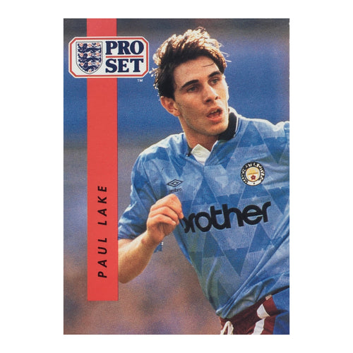 1990/91 Paul Lake Manchester City Pro Set Trading Card