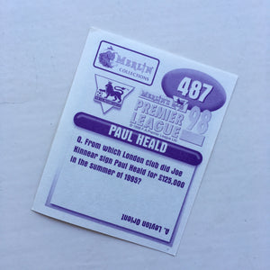 1997/98 Paul Heald Wimbledon Merlin Football Sticker