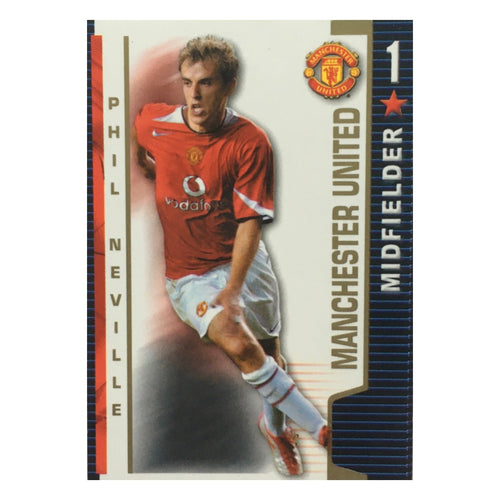 2004/05 Phil Neville Manchester United Shoot Out Trading Card