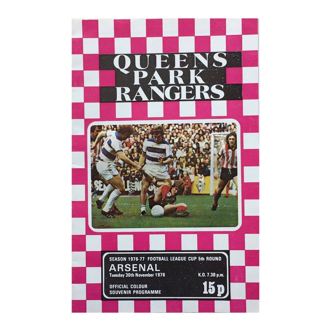 1976 Queens Park Rangers v Arsenal Matchday Programme