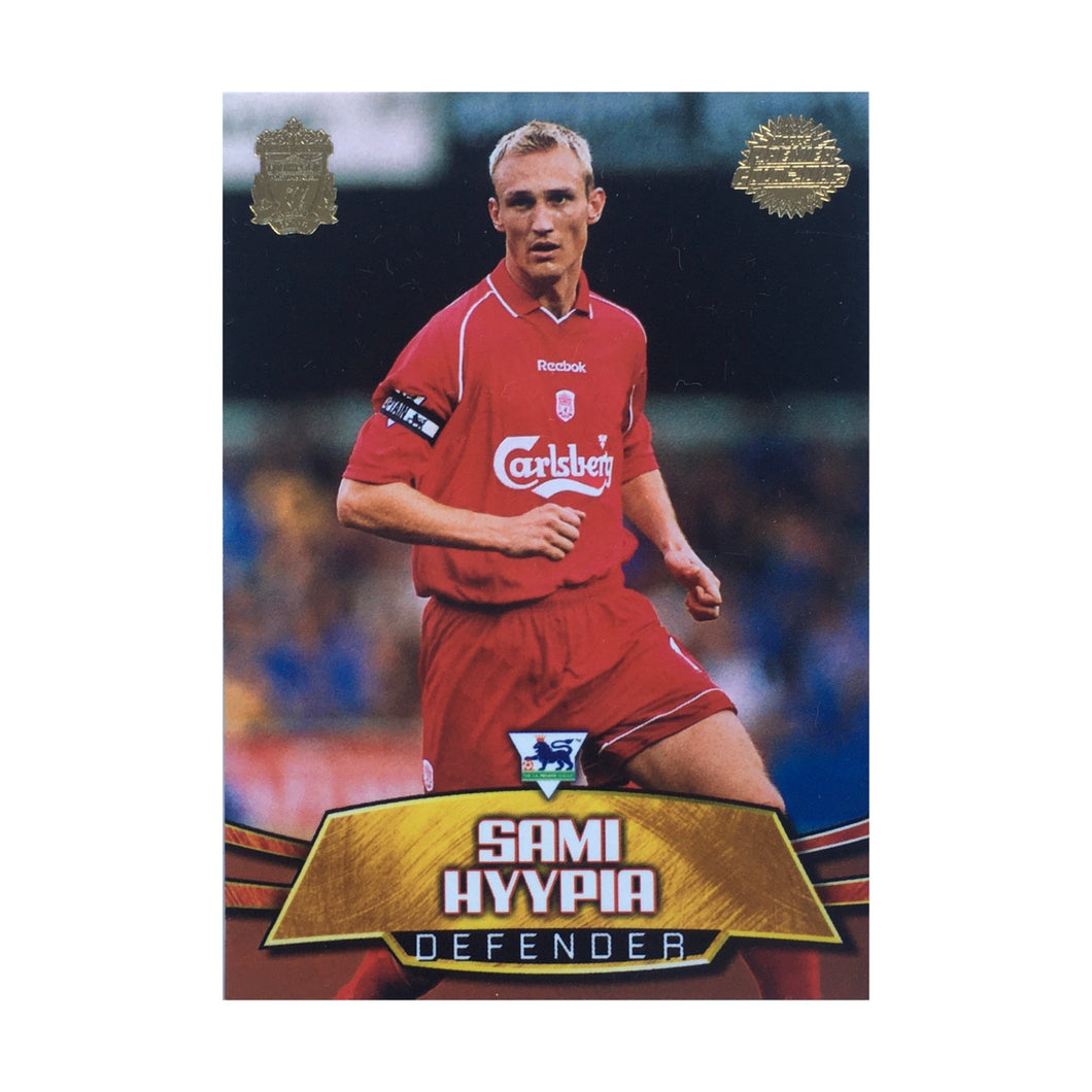 2001/02 Sami Hyypia Liverpool Premier Gold Trading Card