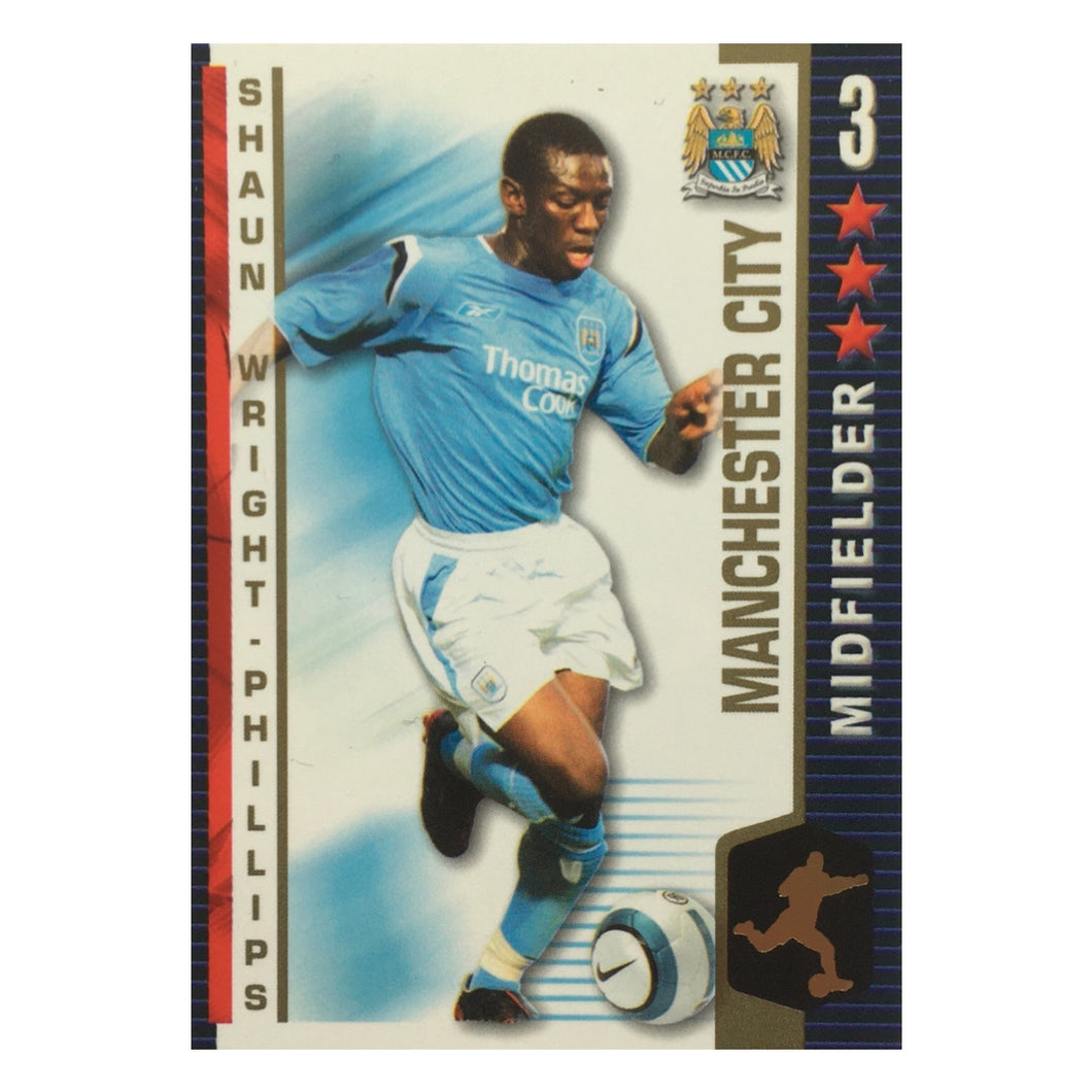 2004/05 Shaun Wright-Phillips Manchester City Shoot Out Trading Card