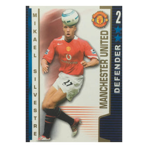 2004/05 Mikael Silvestre Manchester United Shoot Out Trading Card