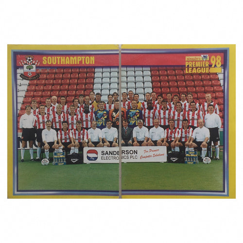 1997/98 Southampton Squad Photo Merlin Football Stickers