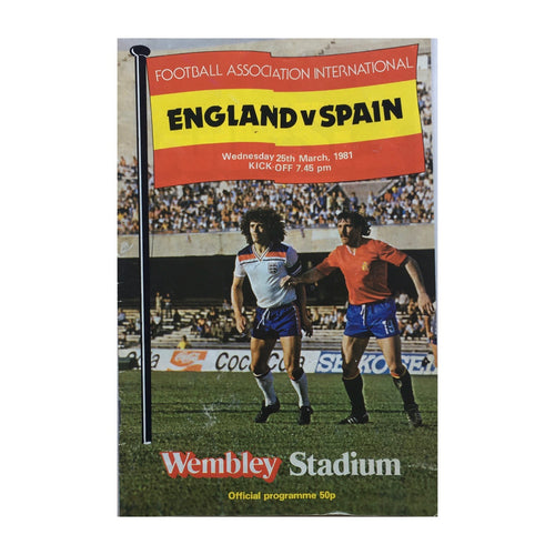 1981 England v Spain Matchday Programme