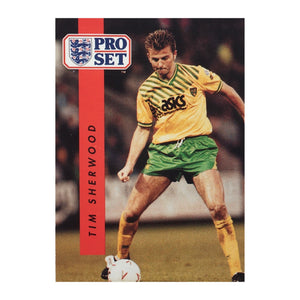 1990/91 Tim Sherwood Norwich City Pro Set Trading Card