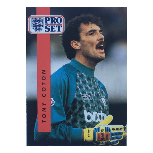 1990/91 Tony Coton Manchester City Pro Set Trading Card
