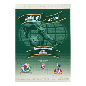 2002 Tottenham v Blackburn Rovers Worthington Cup Final Match Programme