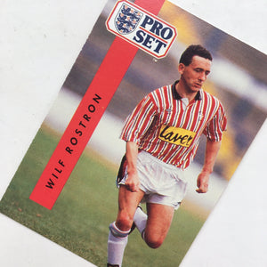 1990/91 Wilf Rostron Sheffield United Pro Set Trading Card