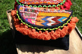 Boho Clutch/ Orange Tassel Cross body Festival  Banjara bag/ Gypsy Clutch/Vintage bag