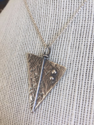 Sterling Silver Necklace with Handmade Charm.