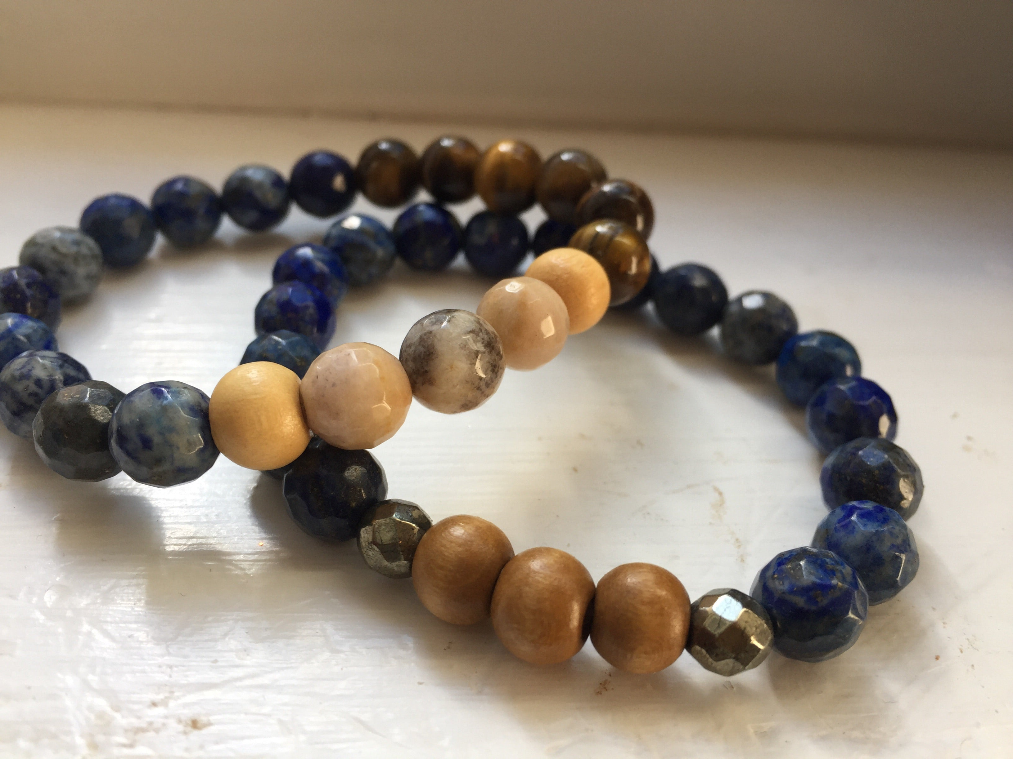Protection, Positivity  and Prosperity Beaded Bracelet Set