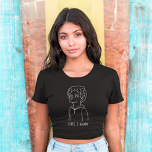 LEVEL 5 VEGAN - Black Crop Tee