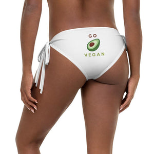 GO VEGAN AVOCADO - Reversible Bikini Bottom - Always Hungry Fashion