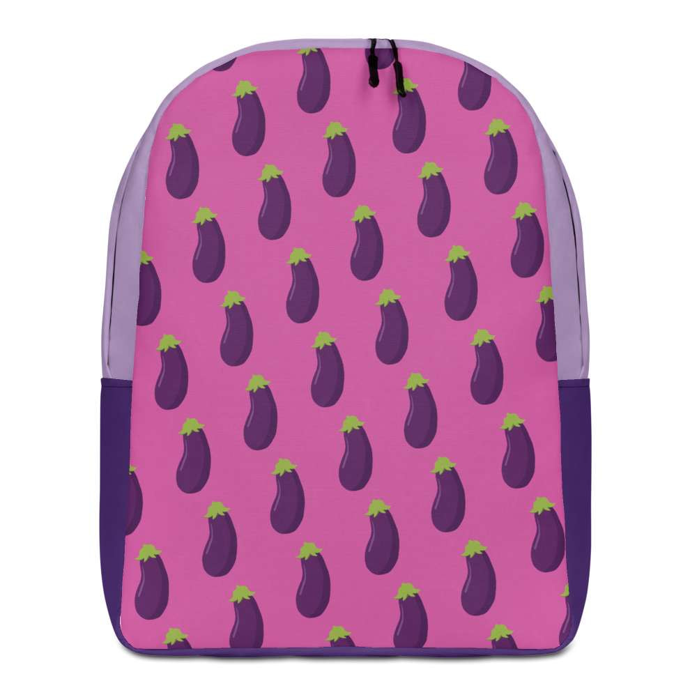 EGGPLANT - Patterned Minimalist Backpack - Always Hungry Fashion