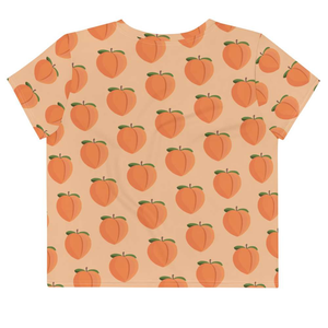 PEACH - Patterned Crop Tee - Always Hungry Fashion