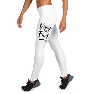 VEGAN AS FUCK - Women's Leggings - Always Hungry Fashion