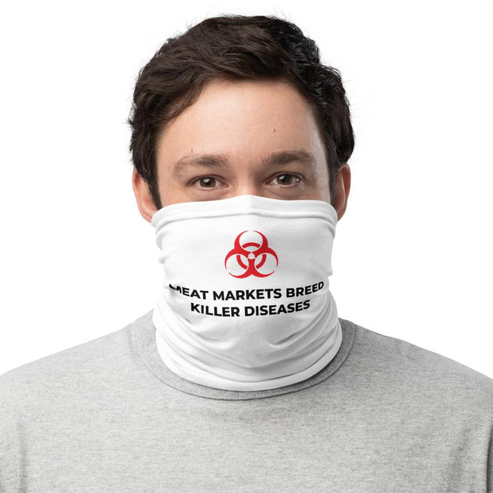 KILLER DISEASES (white) - Neck Gaiter - Always Hungry Fashion