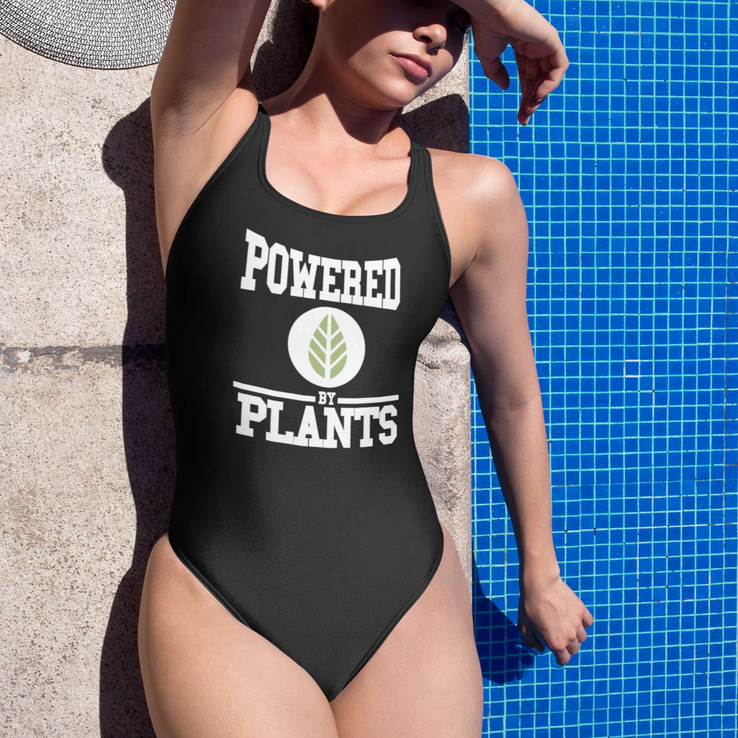 POWERED BY PLANTS - One-Piece Swimsuit - Always Hungry Fashion