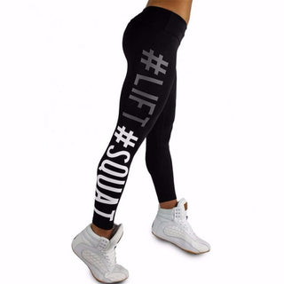 Black Lift and Squats Leggings Side Picture