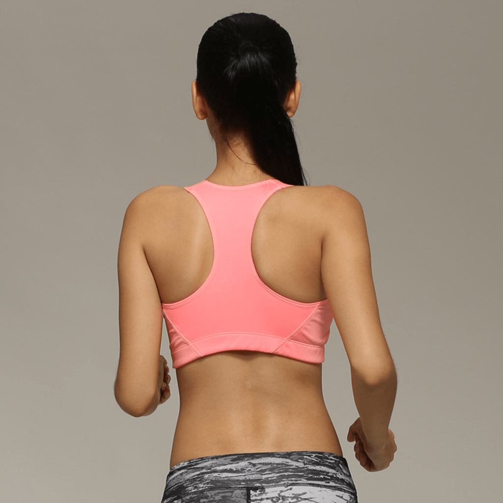 Front Zipper Sports Bras Back Picture