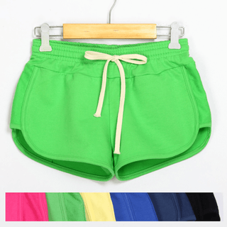 Solid Elastic Waist Sports Shorts Main Picture