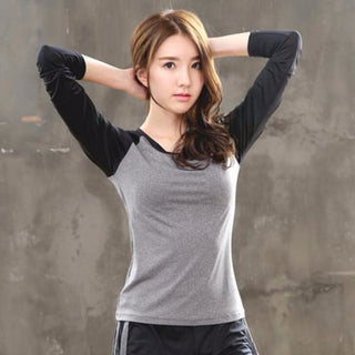 Quick Dry Sleeved Workout Top - Multiple Colors Available