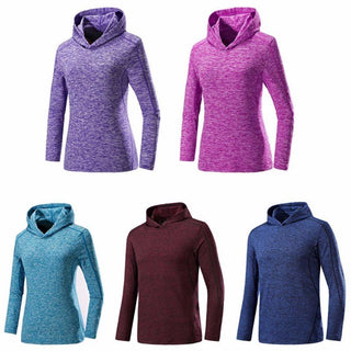 Quick Dry Long Sleeve Hoodie - Multiple Colors Available