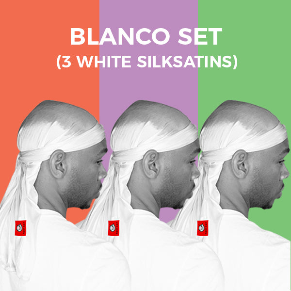 BLANCO SET (3 White Silksatin)