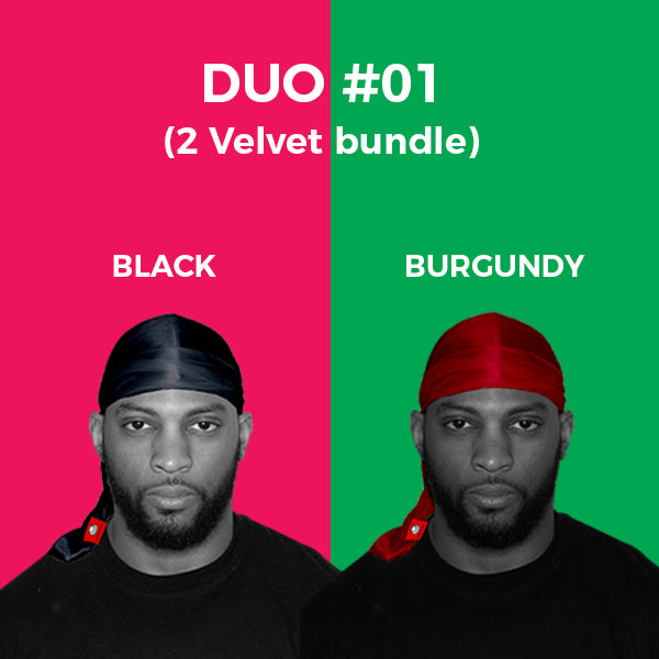DUO #1  Pure+ (Black,Burgundy Velvet)