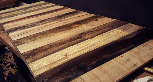 Pallet desk top cut