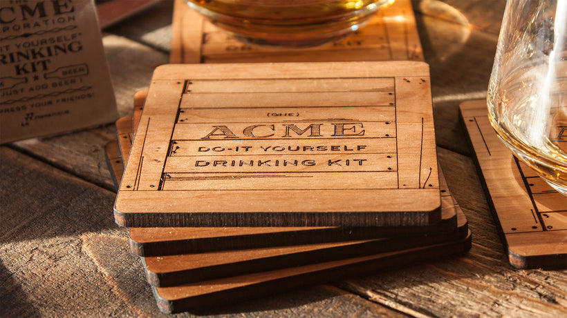 ACME Crate Coasters