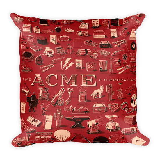 ACME Corporation Square Pillow