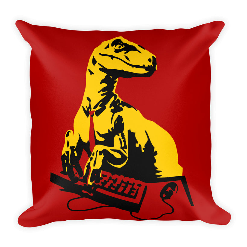 Office Raptor: Square Pillow