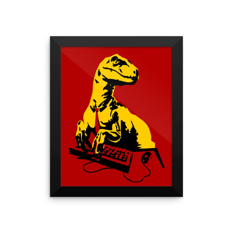 Office Raptor: Framed poster