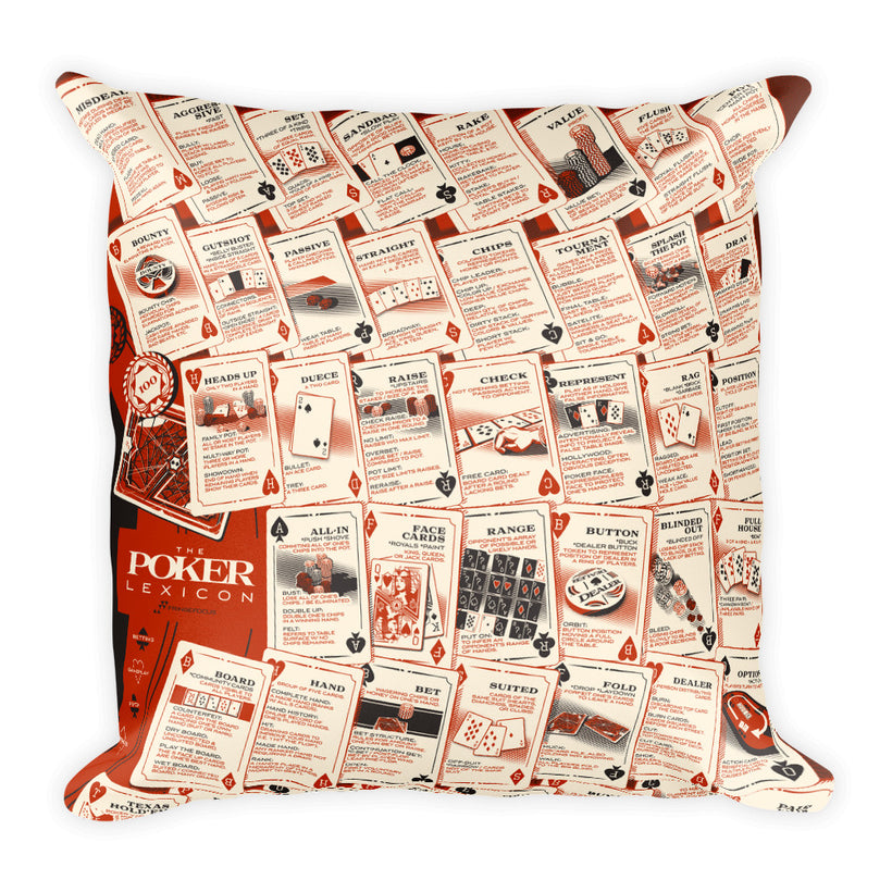 Poker Lexicon Square Pillow