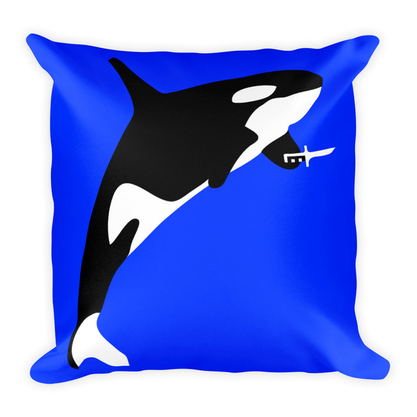 Killer Whale: Square Pillow