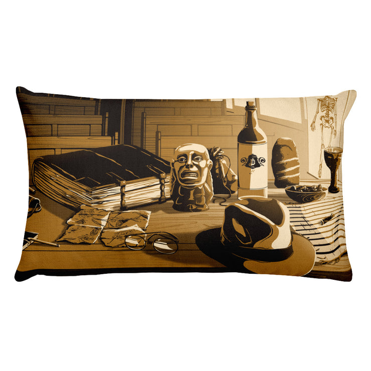 Desk of Dr. Jones: Rectangular Pillow