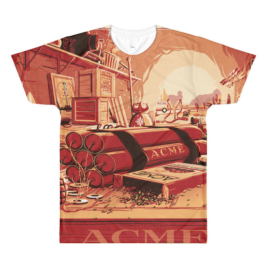 Desk of Mr. Coyote: ACME All-Over Printed T-Shirt
