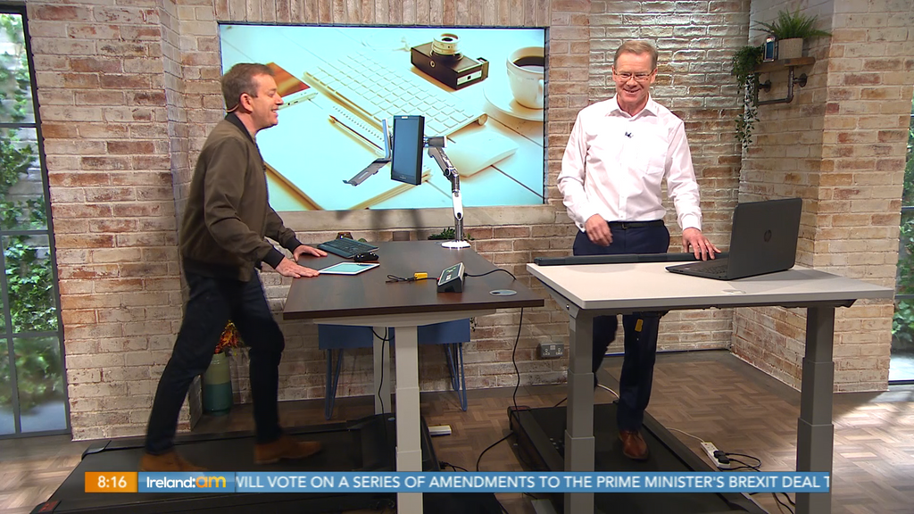 Treadmill Desk Store Ireland featured on Ireland AM