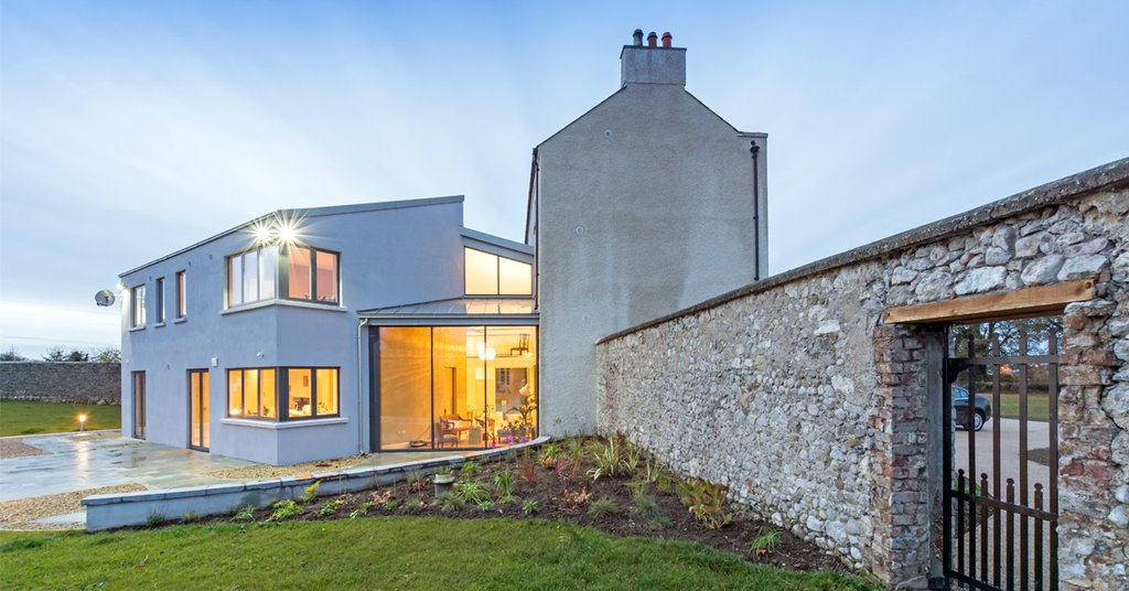 18th century building becomes a low-energy modern house